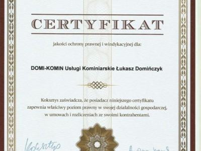 certyfikat prawnik