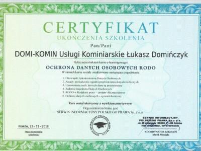 Certyfikat Rodoscan 1